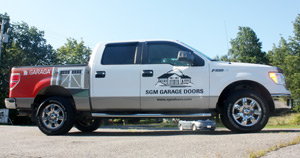 SGM Garage Doors Services and repair truck
